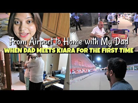 Dad Coming Home In Bangalore | Dad Meets My New Puppy For First Time | Interesting Day Vlog