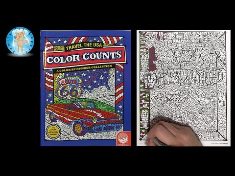 Mindware Color Counts Travel the USA Coloring Book Hollywood California – Family Toy Report