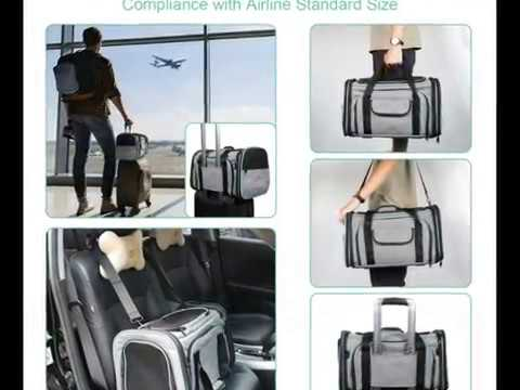 Cat Carrier Airline Approved Pet Carrier,Bertasche Expandable Soft Sided Dog Travel Carrier Bag
