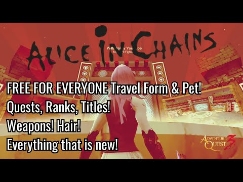 AQ3D Alice in Chains! FREE Travel Form & Pet! Mosh Pit Fighter Titles & Ranks! Hair! Weapons!