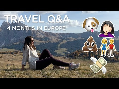 TRAVELING FOR 4 MONTHS (Q&A) ‣‣ budget, planning, tips & more