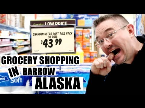 GROCERY SHOPPING IN FARTHEST NORTH CITY IN AMERICA| BARROW ALASKA | Somers In Alaska