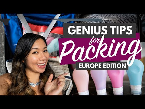 30 PACKING TIPS FOR EUROPE TRAVEL 2020 | Genius Hacks to Save Money (& Stress!)