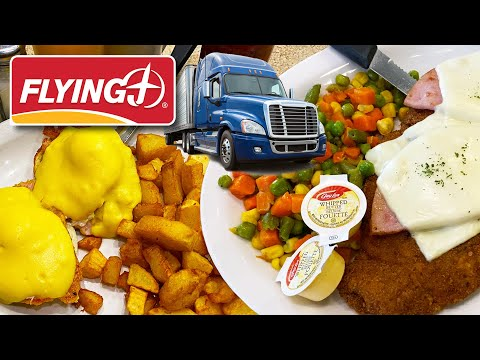 BREAKFAST & LUNCH at a CANADIAN TRUCK STOP ☕️🍔🍽️ Flying J Travel Centre