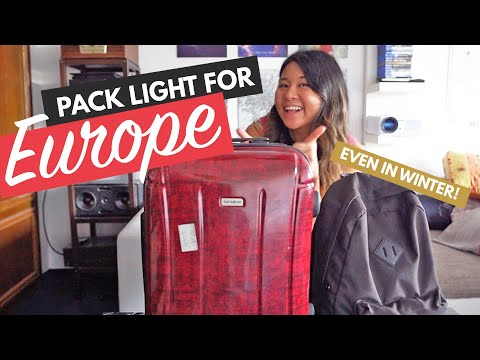 PACK LIGHT FOR EUROPE TRAVEL | Step by Step How to Pack a Carry-On Bag (Like a Pro!)
