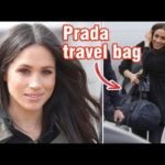 Meghan Markle just stepped out with the dreamiest Prada travel bag   and it's sustainable