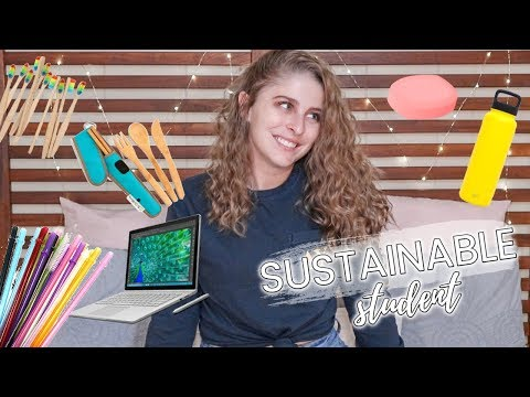 13 EASY Ways to be a More Sustainable Student | Low Waste College Lifestyle