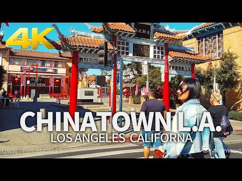 LOS ANGELES – Chinatown, Los Angeles, California, USA, Travel, 4K UHD